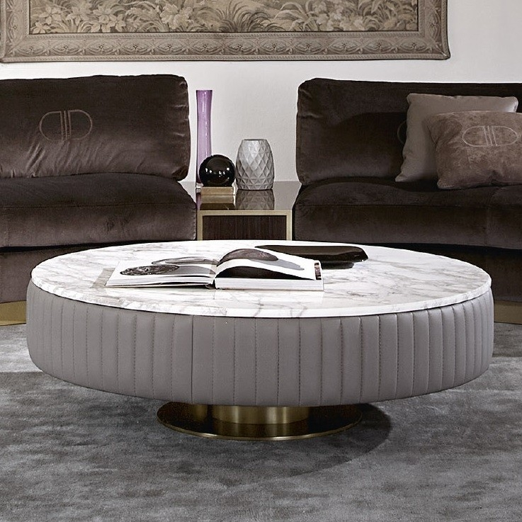 Excellent Latest Marble Round Coffee Tables Regarding Round Marble Tail Table (Image 15 of 50)