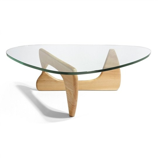 Excellent Latest Oak And Glass Coffee Tables Within Coffee Table Noguchi Glass Coffee Table Replica Replacement (Image 12 of 50)