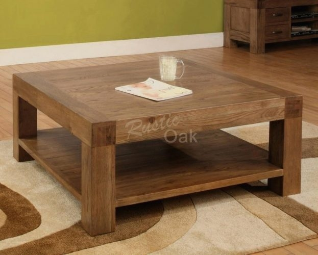 Excellent Latest Oak Square Coffee Tables Regarding Coffee Table Oak Coffee Tables Amazing A Olympus Digital (Image 13 of 50)