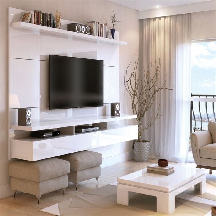Excellent Latest Off The Wall TV Stands Throughout Best 20 White Tv Ideas On Pinterest White Tv Cabinet Colours (View 41 of 50)