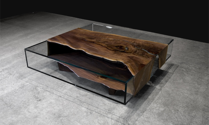 Excellent Latest Reclaimed Wood And Glass Coffee Tables Intended For Interior Design Magazines Nominees For Best Of Year Awards On (View 14 of 50)