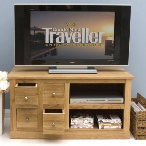 Excellent Latest Small Oak TV Cabinets Throughout Modern Furnitures (View 41 of 50)
