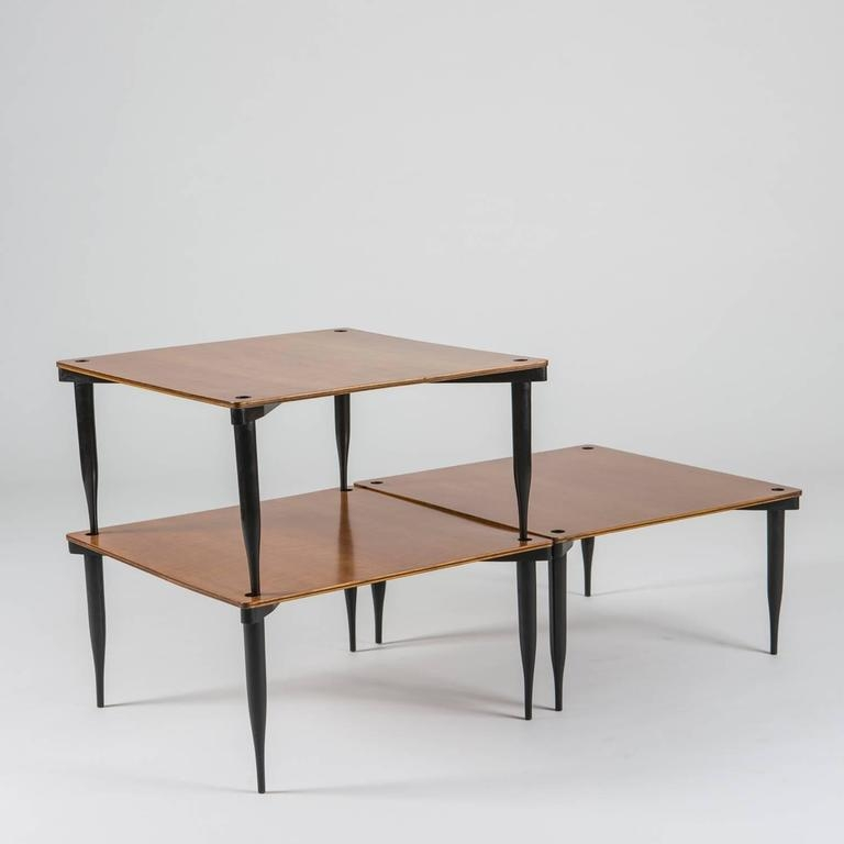 Excellent Latest Stackable Coffee Tables Throughout Set Of Three T8 Stackable Tables Vico Magistretti For Azucena (View 21 of 50)
