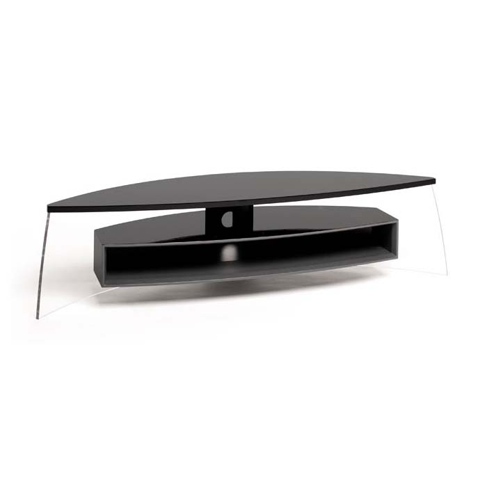 Excellent Latest Techlink Air TV Stands Pertaining To Techlink Air Curve Series 70 In Tv Stand Black And Satin Grey (Image 17 of 50)