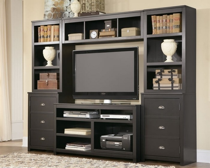 Excellent Latest TV Stands With Matching Bookcases Regarding Remarkable Tv Stand Bookcase Combo Verambelles With Regard To (Image 15 of 50)