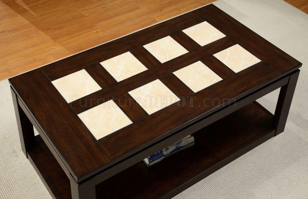 Excellent Latest Verona Coffee Tables Regarding Verona Coffee Table In Espresso Woptions (Image 19 of 50)