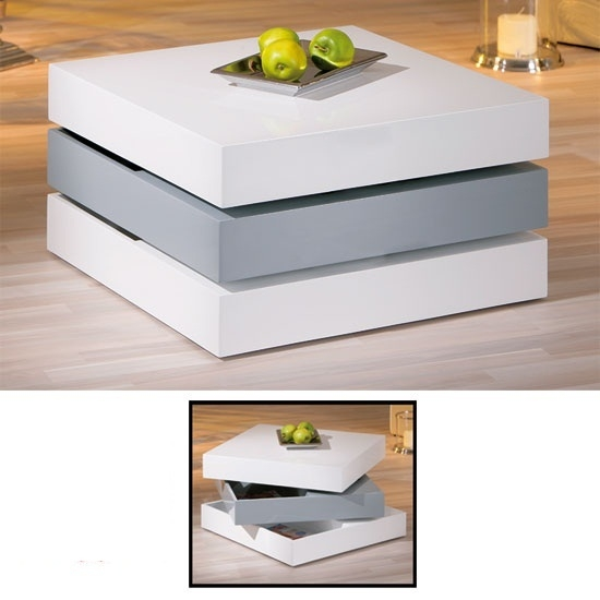 Excellent Latest White Gloss Coffee Tables Inside White Gloss Coffee Table (View 12 of 50)