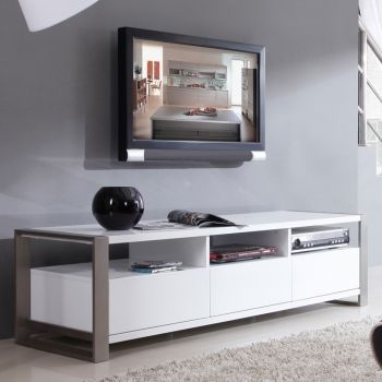Excellent Latest White Modern TV Stands With 25 Best Tv Stand Images On Pinterest Modern Tv Stands High (Image 11 of 50)