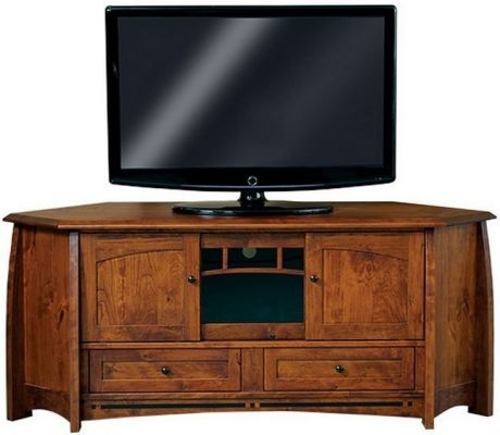 Excellent Latest Wooden Corner TV Stands With Coronado Solid Wood Corner Tv Stand Countryside Amish Furniture (View 42 of 50)