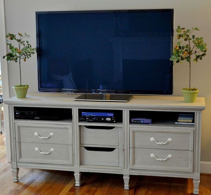 Excellent New Dresser And TV Stands Combination Intended For Best 25 Dresser Tv Stand Ideas On Pinterest Furniture Redo Diy (View 11 of 50)