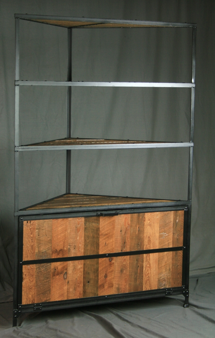Excellent New Industrial Corner TV Stands Within Combine 9 Industrial Furniture Retail (Image 20 of 50)
