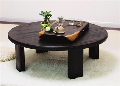 Excellent New Low Japanese Style Coffee Tables With Aliexpress Buy Round Japanese Table Folding Legs 98cm Asian (Image 13 of 50)