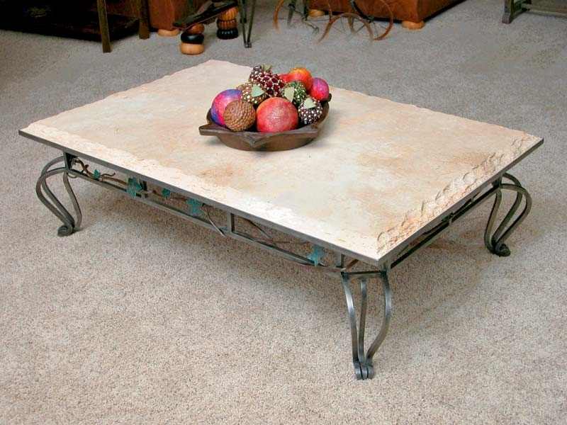 Excellent New Marble And Metal Coffee Tables Regarding Travertine Cocktail Table Marble And Iron Coffee Table Iron (Image 14 of 40)