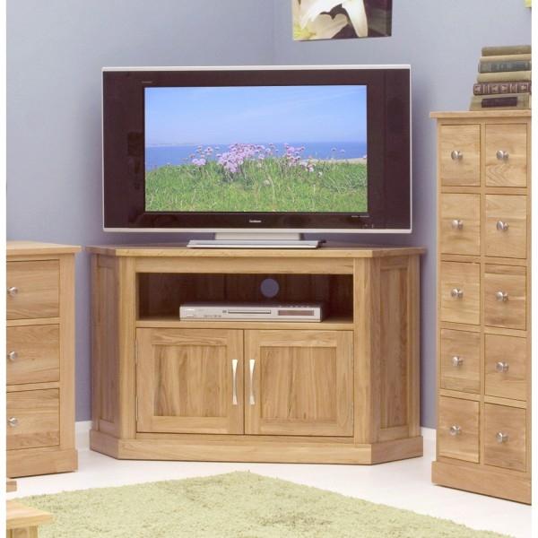 Excellent New Oak Corner TV Cabinets Inside Baumhaus Mobel Oak Corner Tv Cabinet Cor09c (Image 12 of 50)