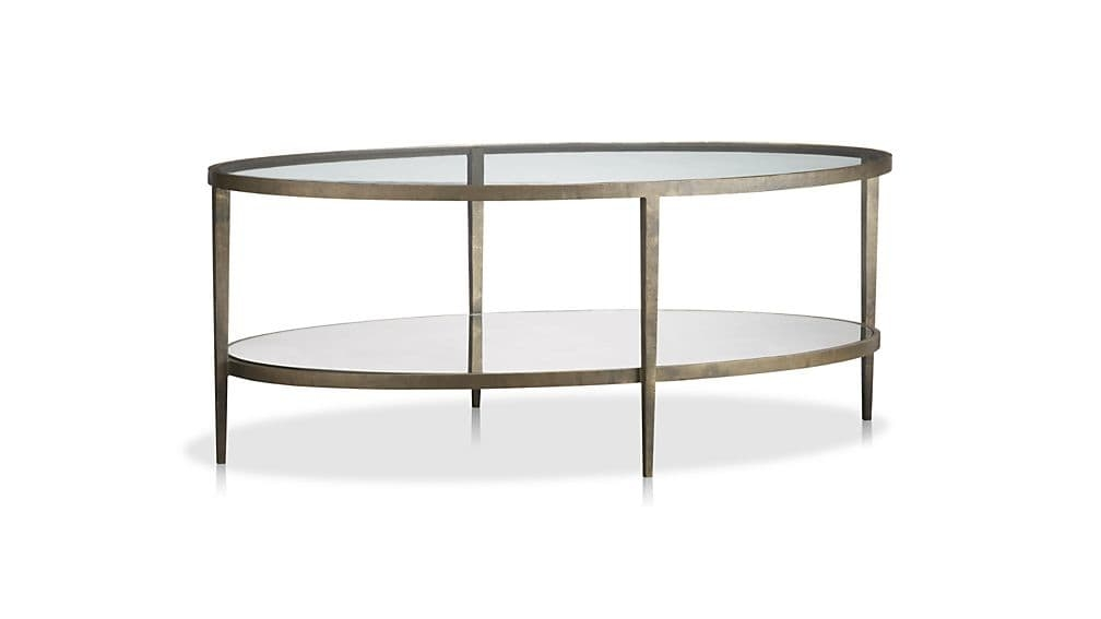 Excellent New Oval Mirrored Coffee Tables Pertaining To Clairemont Oval Coffee Table Crate And Barrel (View 45 of 50)