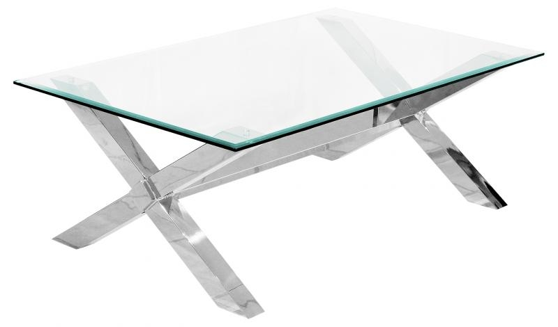 Excellent New Rectangle Glass Chrome Coffee Tables Regarding Glass And Chrome Coffee Table (View 28 of 50)