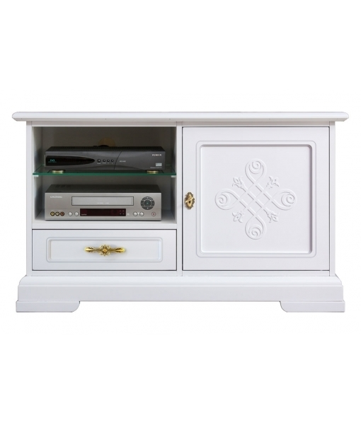 Excellent New Small White TV Cabinets Intended For Simple Tv Stand You Collection Italianstyle Arteferretto (Image 13 of 50)