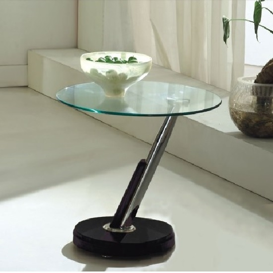 Excellent New Tokyo Coffee Tables Pertaining To Tokyo Clear Glass Top Lamp Table In Black 198 Furniture In (Image 18 of 50)