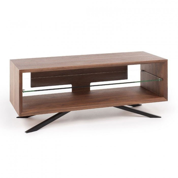 Excellent New Walnut Corner TV Stands Throughout Techlink Corner Tv Stand Techlink Ovid Tv Stand With Curved High (Image 18 of 50)