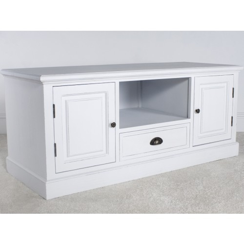 Excellent New White TV Cabinets Intended For New England White 2 Door Tv Cabinet (View 42 of 50)