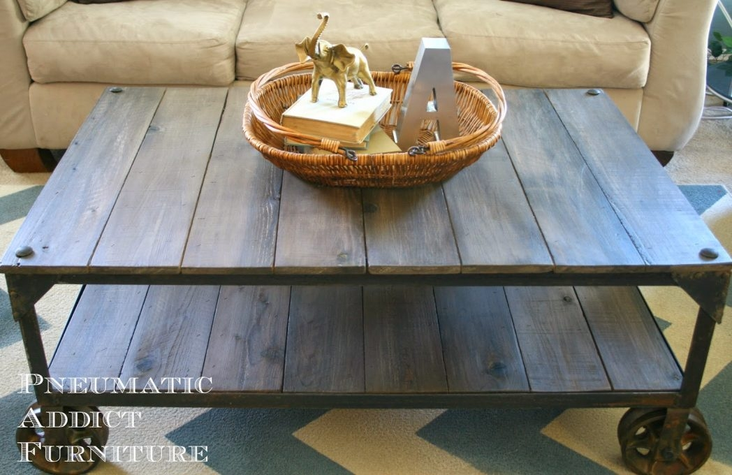 Excellent Popular Aiden Coffee Tables Regarding Wood And Metal Aiden Coffee Table World Market Thippo (Image 17 of 50)