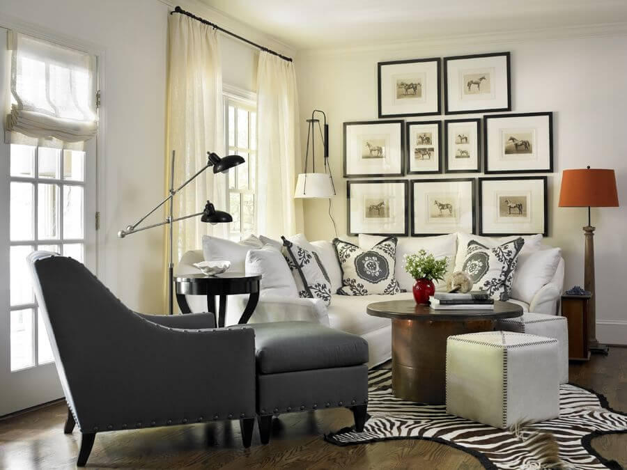 Excellent Popular Animal Print Ottoman Coffee Tables With Regard To 17 Zebra Living Room Decor Ideas Pictures (Image 19 of 50)