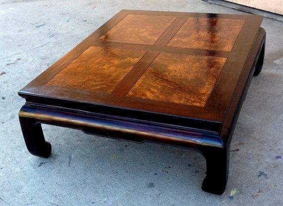 Excellent Popular Chinese Coffee Tables With Regard To Henredon Asian Coffee Table Chinese Ming Dynasty Walnut Burl Wood (View 42 of 50)