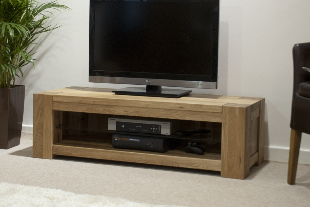 Excellent Popular Contemporary Oak TV Cabinets Within Pemberton Solid Oak Furniture Plasma Television Cabinet (Image 11 of 50)