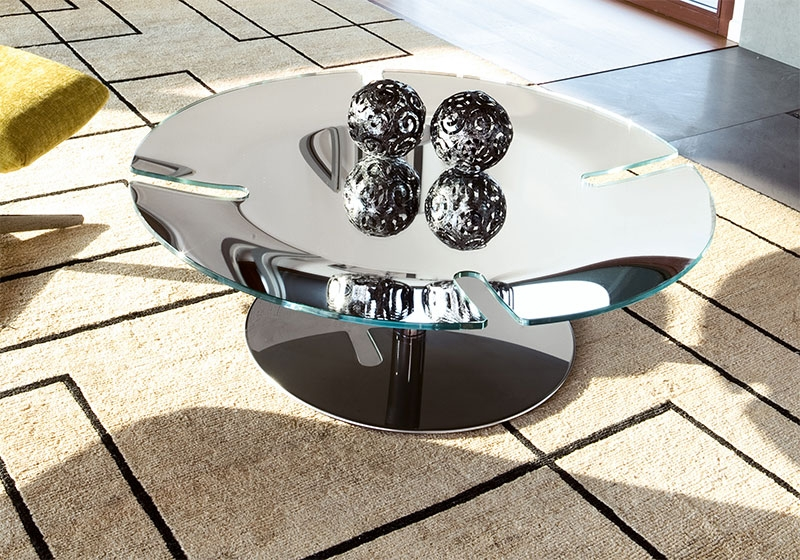 Excellent Popular Glass And Chrome Coffee Tables Intended For Modern Chrome Glass Coffee Table Design (Image 16 of 50)