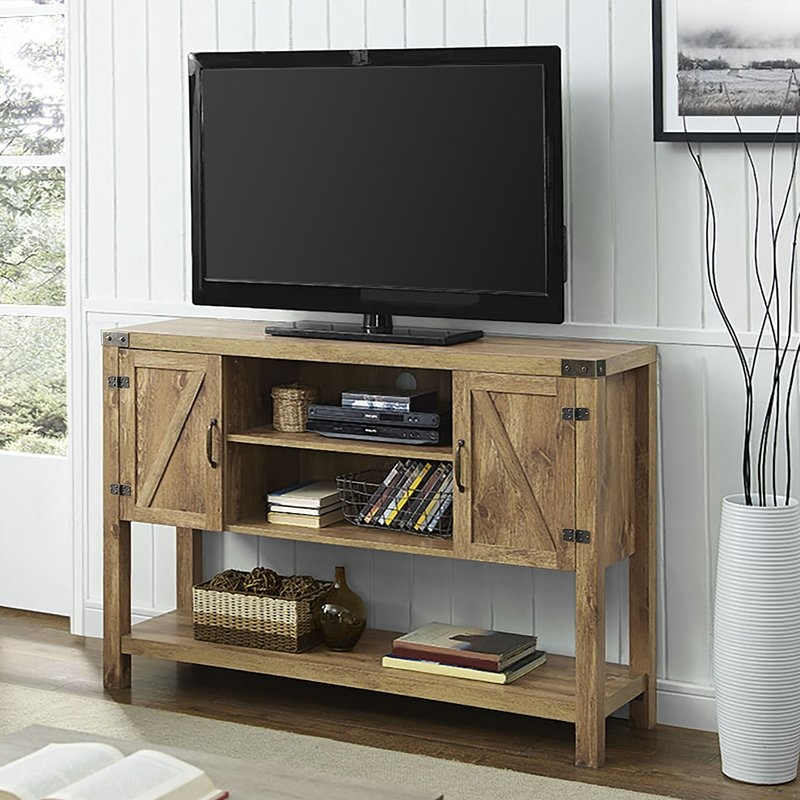 Excellent Popular Maple TV Stands For Flat Screens Inside Extra Tall Tv Stands Wayfair (Image 16 of 50)