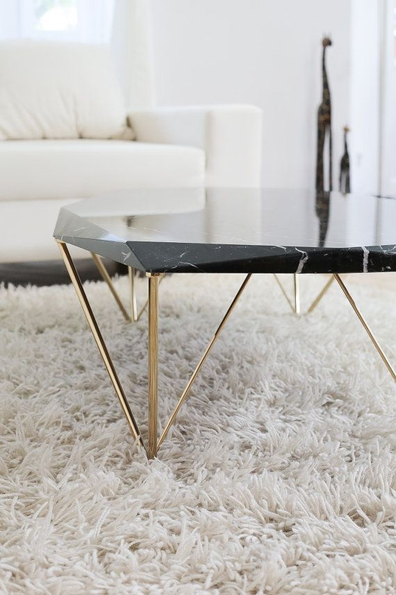 Excellent Popular Marble And Metal Coffee Tables Pertaining To Best 25 Marble Coffee Tables Ideas On Pinterest Marble Top (Image 16 of 40)