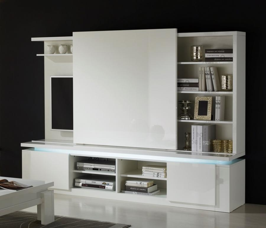 Excellent Popular Modern White Lacquer TV Stands Throughout Tv Stands 10 Inspiring White Lacquer Tv Stand Design Ideas (Image 13 of 50)