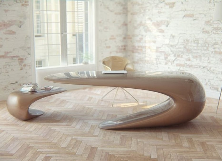Excellent Popular Odd Shaped Coffee Tables With 20 Uniquely Designed Workstations Office Desks Hongkiat Within (Image 16 of 50)