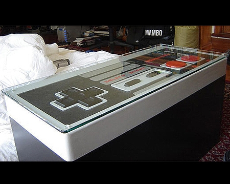 Excellent Popular Opens Up Coffee Tables  In Feature Giant Nes Controllers That Actually Function Techeblog (Image 16 of 40)