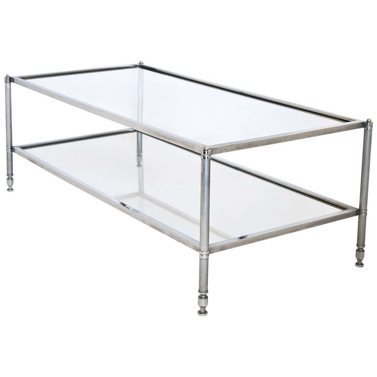 Excellent Popular Rectangle Glass Chrome Coffee Tables With Coffee Table Chrome Glass Coffee Table Modern Clear Bent Glass (View 9 of 50)