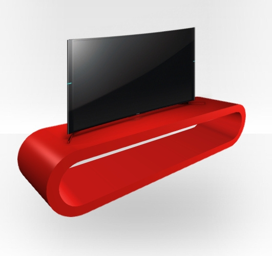 Excellent Popular Red Gloss TV Stands Throughout Red Gloss Tv Stand Zestretch Hoop Free Uk Delivery Zespoke (View 15 of 50)