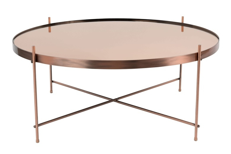 Excellent Popular Red Round Coffee Tables Inside Coffee Table Perfect Round Copper Coffee Table Ideas Round Copper (View 18 of 50)