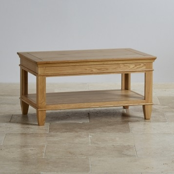 Excellent Popular Solid Oak Coffee Tables Throughout Classic Natural Solid Oak Coffee Table Oak Furniture Land (View 41 of 50)