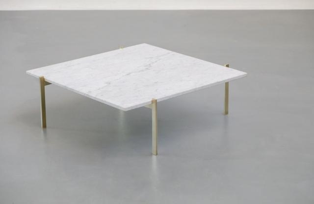 Excellent Popular White Retro Coffee Tables With Regard To Vintage Coffee Table In Marble Brass For Sale At Pamono (View 42 of 50)