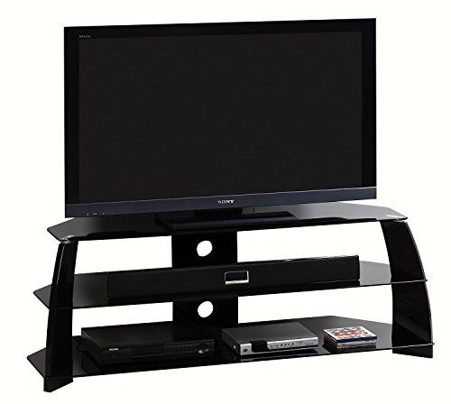 Excellent Preferred 44 Swivel Black Glass TV Stands In Best 25 Black Glass Tv Stand Ideas On Pinterest Penthouse Tv (Image 17 of 50)