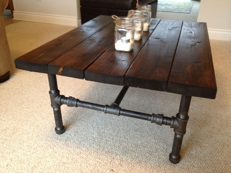 Excellent Preferred Industrial Style Coffee Tables Pertaining To 84 Best Crafts Pipe Images On Pinterest Diy Industrial (Image 17 of 50)