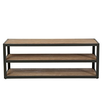 Excellent Preferred Industrial TV Stands Intended For Amazon Lundin 3 Shelf Industrial Entertainment Tv Console (Image 14 of 50)