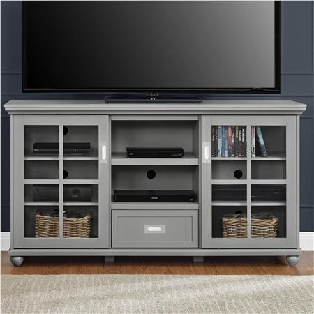 Excellent Preferred Lane TV Stands Intended For Ameriwood Furniture Aaron Lane Tv Stand Buffet Gray (View 6 of 50)