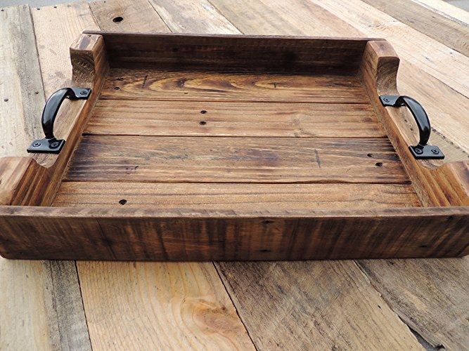 Excellent Preferred Large Wood Coffee Tables With Amazon Rustic Wood Coffee Table Serving Tray Large Handmade (Image 16 of 50)