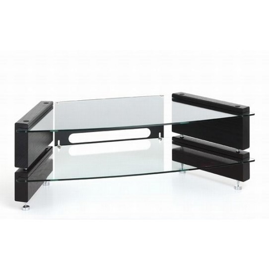 Excellent Preferred Low Corner TV Stands For Low 2 Shelf Corner Tv Stand Milan Lcd Cnr 2 Big Av (Image 15 of 50)