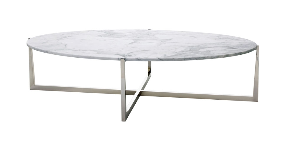 Excellent Preferred Metal Oval Coffee Tables Regarding Powell Bonnell (Image 12 of 50)