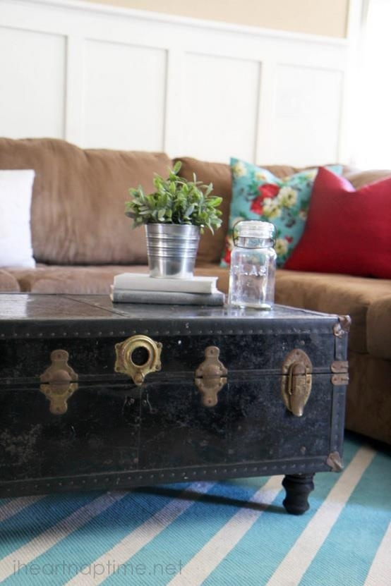 Excellent Preferred Old Trunks As Coffee Tables Pertaining To Best 25 Trunk Coffee Tables Ideas On Pinterest Wood Stumps (Image 13 of 50)