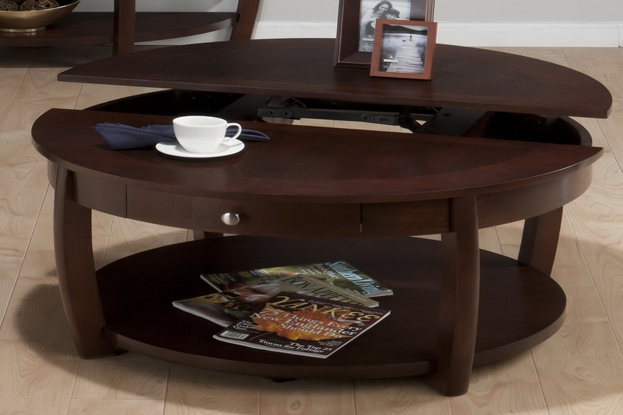 Excellent Preferred Round Coffee Tables With Storages Regarding Large Round Coffee Table (Image 19 of 50)