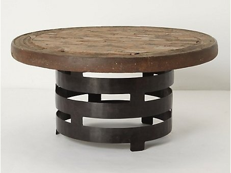 Excellent Preferred Round Steel Coffee Tables In Living Room The Coffee Table Round Travertine Top For Iron Plan (Image 14 of 50)