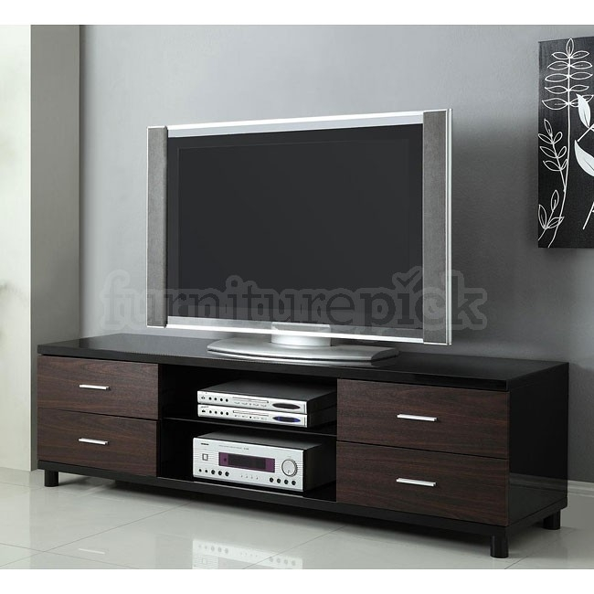 Excellent Preferred Shiny Black TV Stands Inside High Gloss Black Tv Stand Coaster Furniture Furniturepick (Image 14 of 50)